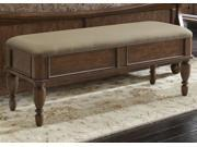Liberty Furniture Rustic Traditions Bed Bench in Rustic Cherry Finish
