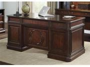 Liberty Furniture Brayton Manor Jr Executive Desk in Cognac Finish