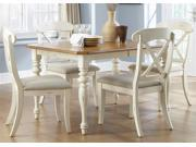 Liberty Furniture Ocean Isle Opt 5 Piece Rectangular Table Set in Bisque with Natural Pine Finish