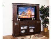 Sunny Designs Santa Fe Collection Two Piece Entertainment Wall In Dark Chocolate