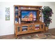 Sunny Designs 2702RO-H Sedona Media Hutch In Rustic Oak