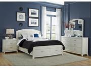 Liberty Furniture Avalon Storage Bed & Dresser & Mirror & Nightstand in White Truffle Finish