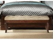 Liberty Furniture Alexandria Bed Bench in Autumn Brown Finish