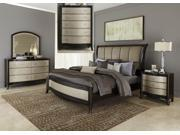 Liberty Furniture Sunset Boulevard Sleigh Bed & Dresser & Mirror & Chest & Nightstand in Coffee Bean Finish