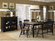 Liberty Furniture Al Fresco 5 Piece Rectangular Table Set in Driftwood & Black Finish