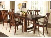Liberty Furniture Tahoe 7 Piece Trestle Table Set in Mahogany Stain Finish