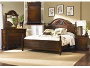 Liberty Furniture Royal Landing Poster Bed & Dresser & Mirror & Chest & Nightstand in Tobacco Finish