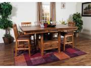 Sunny Designs Sedona Collection Six Piece Dining Set In Rustic Oak 1177RO