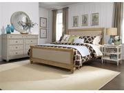 Liberty Furniture Harbor View Sleigh Bed & Dresser & Mirror & Nightstand in Sand Finish