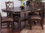 Sunny Designs Double Butterfly Left Counter Height Dining Table In Antique Charcoal