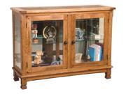 Sunny Designs Sedona Console Curio In Rustic Oak