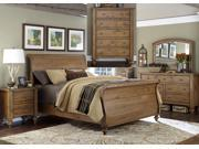 Liberty Furniture Southern Pines Sleigh Bed & Dresser & Mirror & Chest & Nightstand in Vintage Light Pine Finish