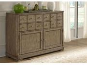 Liberty Furniture Weatherford Server in Weathered Gray Finish