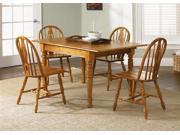 Liberty Furniture Country Haven 5 Piece Butterfly Leaf Set in Spice Finish