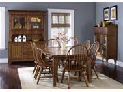 Liberty Furniture Treasures 5 Piece Retractable Table Set in Rustic Oak Finish