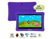 Contixo 7 Inch Quad Core Android 4.4 Kids Tablet, HD Display 1024x600, 1GB RAM, 8GB Storage, Dual Cameras, Wi-Fi, Kids Place App & Google Play Store Pre-installed, Kid-Proof Case (Purple)