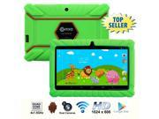 Contixo 7 Inch Quad Core Android 4.4 Kids Tablet, HD Display 1024x600, 1GB RAM, 8GB Storage, Dual Cameras, Wi-Fi, Kids Place App & Google Play Store Pre-installed, Kid-Proof Case (Green)
