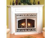Standard Corner Cabinet Mantel EMC22W with Base - White