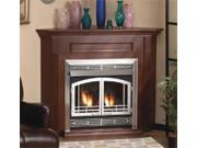 Standard Corner Cabinet Mantel EMBC2SUO with Base - Unfinished Oak