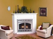 Standard Corner Cabinet Mantel EMBC4SW with Base - White