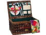Sutherland Classic Country Picnic Basket - Hunter Green Lining For 2