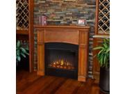 Real Flame Bradford Slim Line Electric Fireplace in Pecan