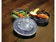 Rome 2-tier Mini Oval Tiffin - stainless steel