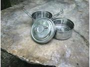 Rome 2-tier Mini Round Tiffin - stainless steel