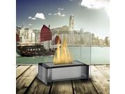 Gloss Black Paris Tabletop Ethanol Fuel Fireplace