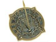 Rome Rome Happiness Sundial - Solid Brass with Verdigris Highlights