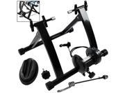 Indoor Road Cycling Bicycle Magnetic Trainer W/ Seven Levels Of Resistance Exercise Stand - Black
