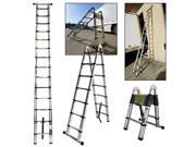 14.5 Ft A-Type Multi-Purpose Extension Aluminum Telescopic Telescoping Ladder EN131 Certified Painting/Cleaning