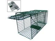 "Live Pet Animal Trap Racoon Skunk Rabbit Cat Dog Traps Steel Cage 26""LX9""WX12""H"