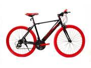 "Alton ""Compass"" Hybrid/Commuter Bike Shimano 21-Speed Red/Black 700C x 22"" Frame"