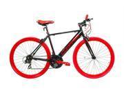 "Alton ""Compass"" Hybrid/Commuter Bike Shimano 21-Speed Red/Black 700C x 20"" Frame"