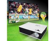 Excelvan UC80 1500 lumens 700:1 Contrast Ratio Home Theater HD LED Video Projector with Built-in Speakers - AV VGA HDMI USB TV IP 800*600 for Private Theater, Small Meetings, Multimedia Teaching, KTV