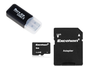 8GB TF Flash memory Card Class 6  with Adapter + Floureon USB 2.0 Micro SD TF Card Reader