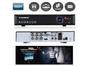 FLOUREON 4 CH 960H HDMI H.264 CCTV Security Video Recorder Cloud DVR Support Capture , Record in your smart phone, Cloud System For Remote Access
