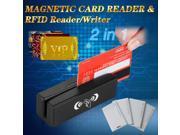 2in1 USB 3 Track Magnetic Card Reader + RFID card Reader/Writer ZCS100-RF