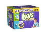 Luvs Size 2 Diaper OMG Jr Pack - 216 Count
