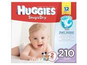 Huggies Snug & Dry Size 2 Value Box - 210 Count