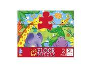 Jungle/Ocean 2-Sided Floor Puzzle - 24-Piece