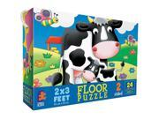 Cows in Farm Yard Floor Puzzle - 24-Piece