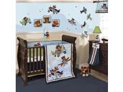 Lambs & Ivy Baby Aviator 9-Piece Crib Bedding Set