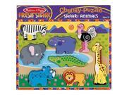 Melissa & Doug Deluxe Safari Animals Chunky Wood Puzzle - 8-Piece
