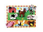 Melissa & Doug Deluxe Farm Animals Chunky Wood Puzzle - 8-Piece