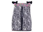 Trend Lab Zahara Zebra Print Diaper Stacker - Black and White