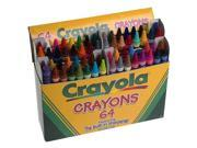 Crayola - Crayons 64-Pack with Built-In Sharpener