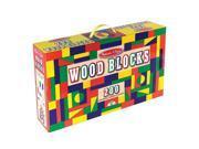 Melissa & Doug Wood Blocks Set - 200