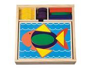 Melissa & Doug 40-piece Wooden Beginner Pattern Blocks